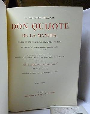 EL INGENIOSO HIDALGO DON QUIJOTE DE LA MANCHA 2 VOLÚMENES: Cervantes Saavedra, Miguel de