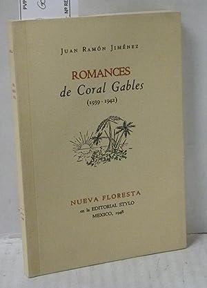 ROMANCES DE CORAL GABLES (1939-1942) Facsimil: Jimenez, Juan Ramon