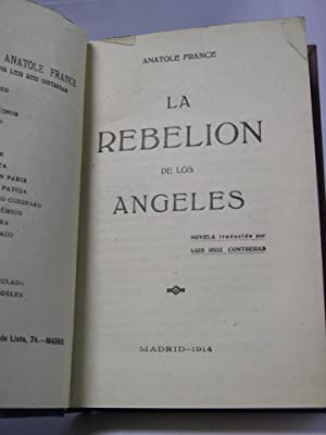 LA REBELION DE LOS ANGELES: France, Anatole