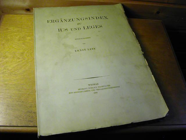 Ergänzungsindex zu Jus und Leges: Ernst Levy (Hrsg.)