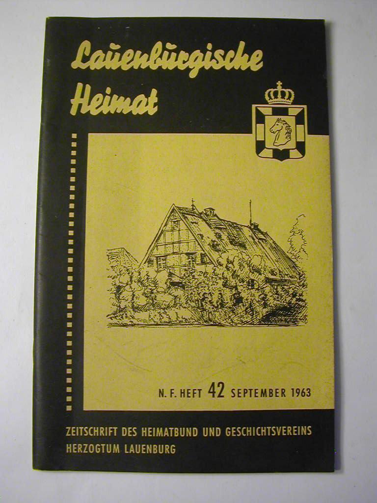 Lauenburgische Heimat. Zeitschrift des Heimatbund und Geschichtsvereins: Kurt Langenheim (Schriftl.)