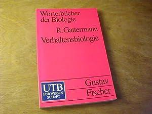 Wörterbücher Der Biologie - Verhaltensbiologie : mit englisch-deutschem Register: Rolf ...