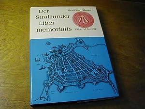 Der Stralsunder Liber memorialis - Teil 5.,: Horst-Diether Schroeder (Bearb.)