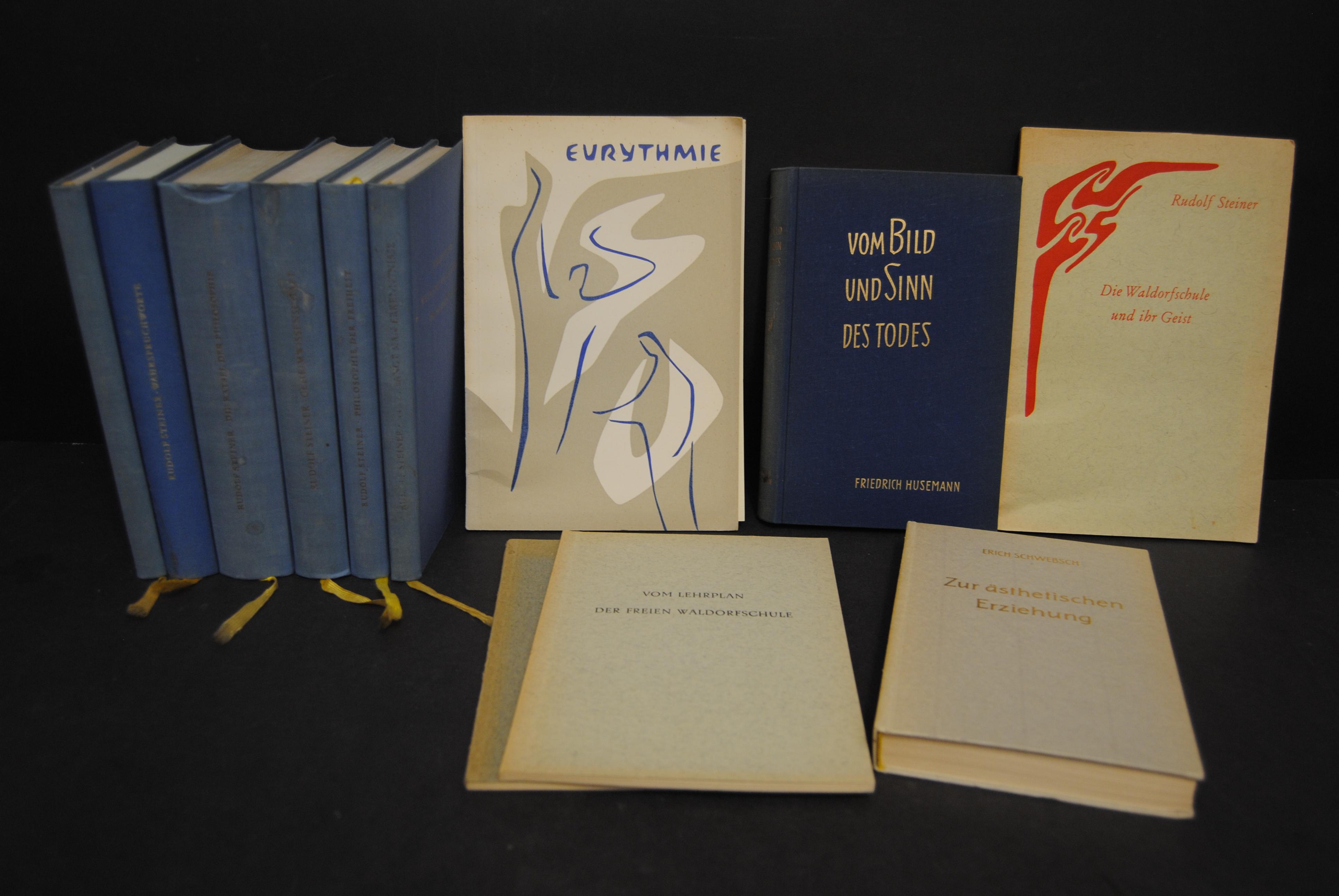 7 Werke in verschied. Auflagen und 4: Steiner, Rudolf.