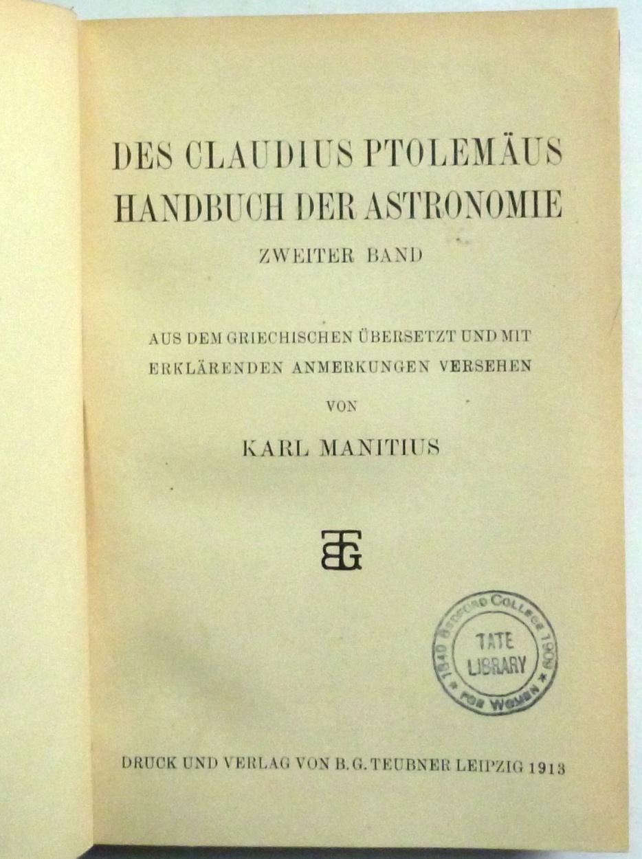 claudius ptolemaeus - zvab