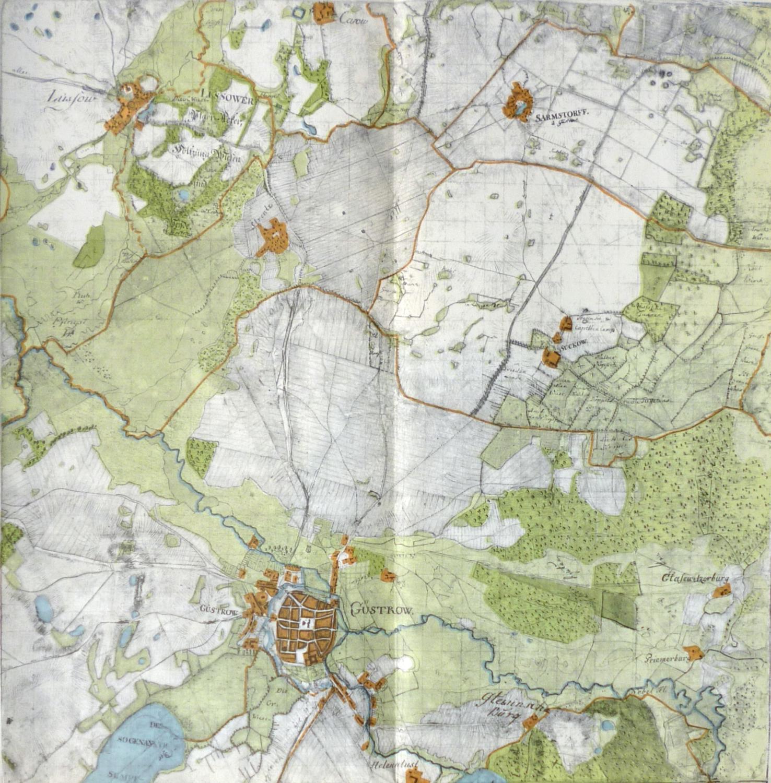 Güstrow Karte.Wiebekingsche Karte Von Mecklenburg Um 1786