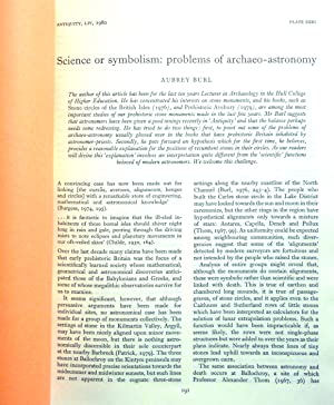 Science or symbolism: problems of archaeo-astronomy.