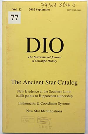 The Southern Limit of the Ancient Star Catalog. - The Instruments used by Hipparchos. - A Re-iden...