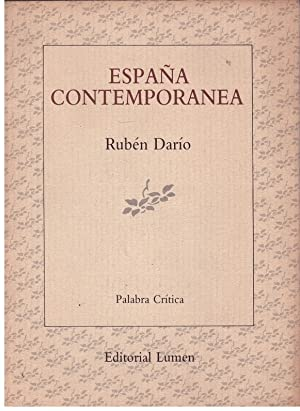 ESPAÑA CONTEMPORANEA.: DARIO, RUBEN