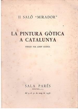 LA PINTURA GÒTICA A CATALUNYA. II SALÓ: GUDIOL, JOSEP