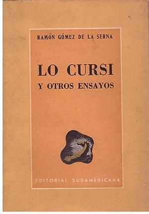LO CURSI Y OTROS ENSAYOS.: GOMEZ DE LA
