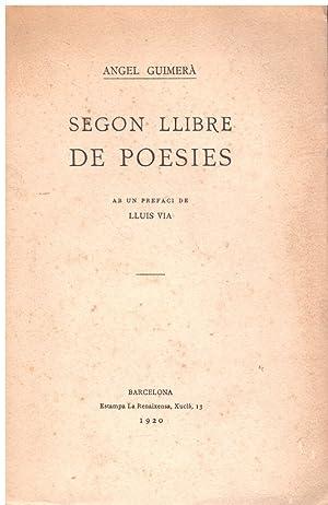 SEGON LLIBRE DE POESIES.: Guimerà, Àngel