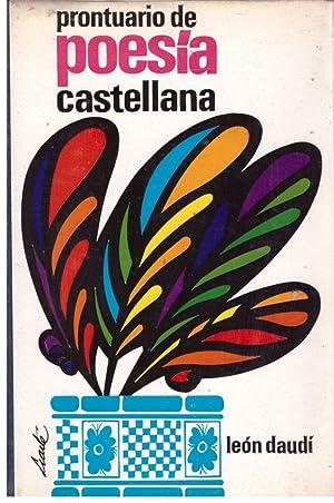 PRONTUARIO DE POESIA CASTELLANA.: Daudi, Leon.