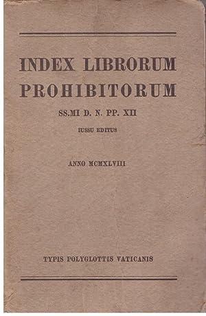 INDEX LIBRORUM PROHIBITORUM. SS.MI D. N. PP.