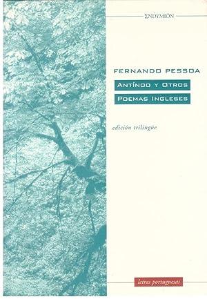 Antinoo y otros poemas ingleses.: Pessoa, Fernando