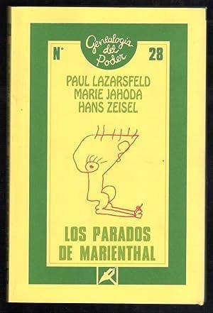 PARADOS DE MARIENTHAL, LOS; SOCIOGRAFÍA DE UNA: LAZARSFELD, PAÚL; MARIE
