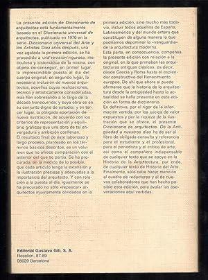 DICCIONARIO DE ARQUITECTOS; DE LA ANTIGÜEDAD A NUESTROS DÍAS: VV.AA.; JUAN-EDUARDO ...