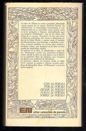 EMBLEMAS: ALCIATO; MANUEL MONTERO VALLEJO, (PROLOGO); MARIO SORIA, (PREPARACIÓN DE TEXTOS Y NOTAS)