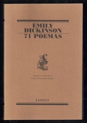 71 POEMAS (EDICIÓN BILINGÜE INGLES-ESPAÑOL): DICKINSON, EMILY; NICOLE ...