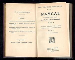 PASCAL: ARCHAMBAULT, PABLO, (INTRODUCCIÓN Y TROZOS ESCOGIDOS); F. PEYRO CARRIO, (TRADUCCÍON ...