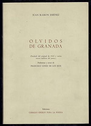 OLVIDOS DE GRANADA (FACSIMIL DEL ORIGINAL DE: JIMÉNEZ, JUAN RAMÓN;