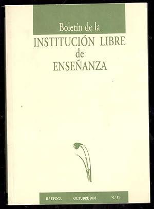 BOLETÍN DE LA INSTITUCIÓN LIBRE DE ENSEÑANZA,: VV.AA.; JUAN MARICHAL,