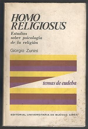 HOMO RELIGIOSUS; ESTUDIOS SOBRE PSICOLOGÍA DE LA: ZUNINI, GIORGIO; MARINO