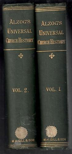 MANUAL OF UNIVERSAL CHURCH HISTORY, 2 VOLS.: ALZOG, JOHN; F.J.