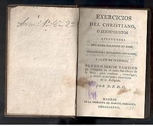 EXERCICIOS DEL CHRISTIANO, O SENTIMIENTOS AFECTUOSOS DEL: D.F.D.G.