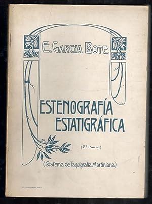 ESTENOGRAFÍA ESTRATIGRÁFICA, 2 VOLS. (SISTEMA DE TAQUIGRAFÍA MARTINIANA); ARTE...