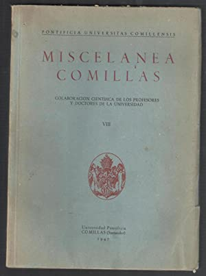 MISCELANEA COMILLAS, VIII; NUEVA Y ORIGINAL EXPLICACIÓN DE LAS PROCESIONES DIVINAS; RAVAGO, ...