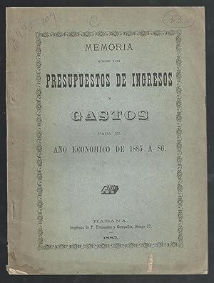 MEMORIA SOBRE LOS PRESUPUESTOS DE INGRESOS Y: VV.AA.