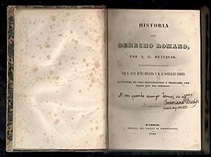 HISTORIA DEL DERECHO ROMANO: HEINECIO, J.G.; JUAN