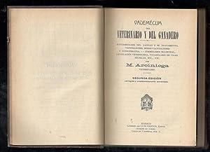 VADEMECUM DEL VETERINARIO Y DEL GANADERO; ENFERMEDADES: ARCINIEGA, M