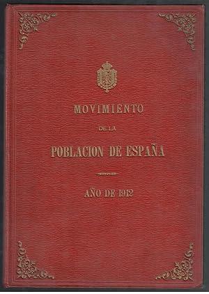 MOVIMIENTO NATURAL DE LA POBLACION DE ESPAÑA,: VV.AA.; MINISTERIO DE