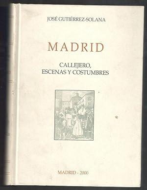 MADRID; CALLEJERO, ESCENAS Y COSTUMBRES: GUTIÉRREZ-SOLANA, JOSÉ