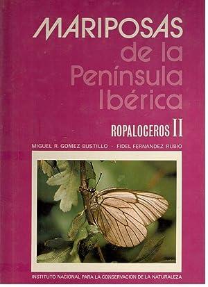 MARIPOSAS DE LA PENÍNSULA IBÉRICA, 2 VOLS., VOL. 1º Y 2º ROPALOCEROS: GOMEZ BUSTILLO, MIGUEL R. Y ...