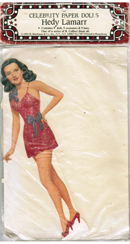 2ba62719ab8 Celebrity Paper Doll 9 Inch Hedy Lamarr by Hedy Lamarr  B Shackman ...