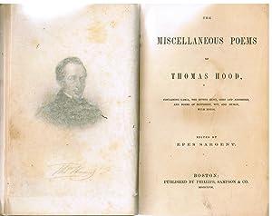 The Miscellaneous Poems of Thomas Hood: Hood, Thomas