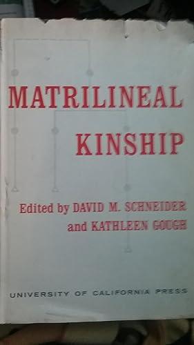 Matrilineal Kinship: Schneider, David M