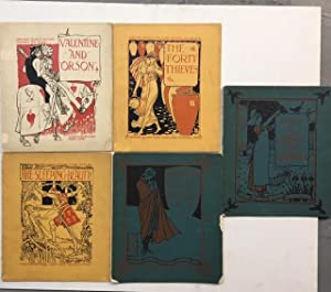 Walter Crane's Picture Books, Reissue. 5 Volumes, The Sleeping Beauty, the Forty Thieves, Prince ...