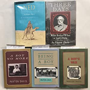Five inscribed volumes. - Being A Boy, A Boy's War, A Boy No More, Three Days and Ned