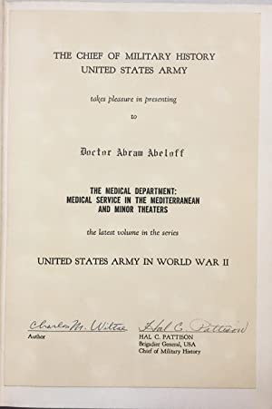 United States Army in World War II, The Technical Services. The Medical Department: Medical Servi...