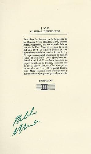 J.M.C EL HUSAR DESDICHADO libro que contiene: NERUDA, Pablo