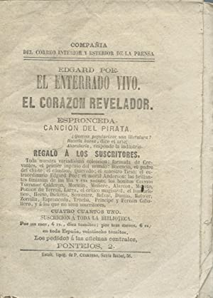 El Enterrado Vivo. / El Corazon Revelador / Canción de Pirata: POE, Edgar Allan / ...