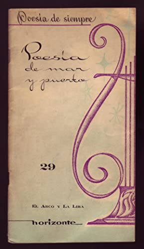 POESIA DE MAR Y PUERTO.: Darío, Ruben et.