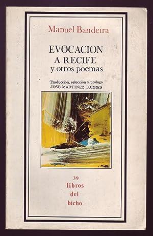 EVOCACION A RECIFE y otros poemas. Libros: Bandeira, Manuel.