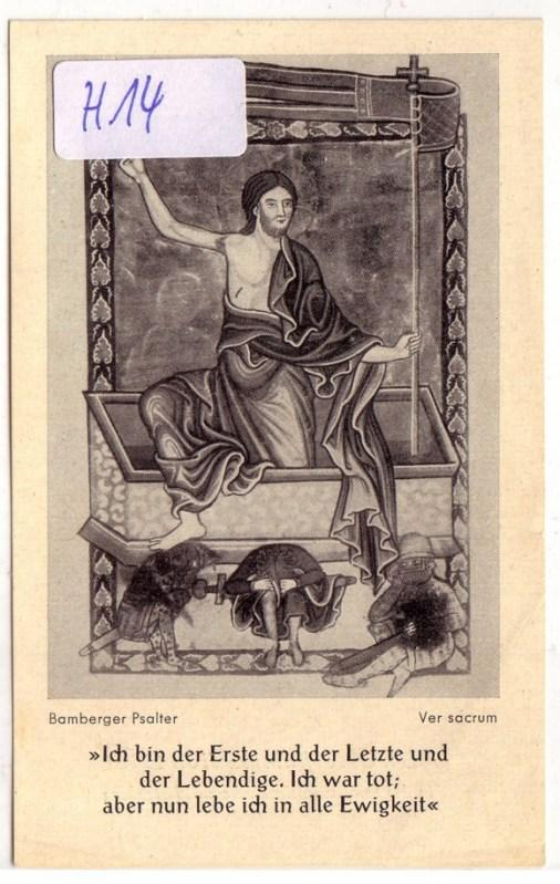 Heiligenbild Andachtsbild / Hl. Osterkommunion 1956 in: ohne