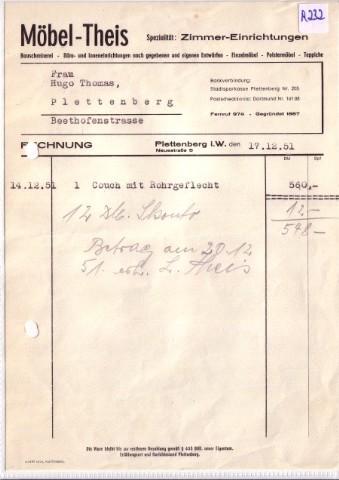 Rechnung Möbel Theis Plettenberg Von Möbel Theis Zvab