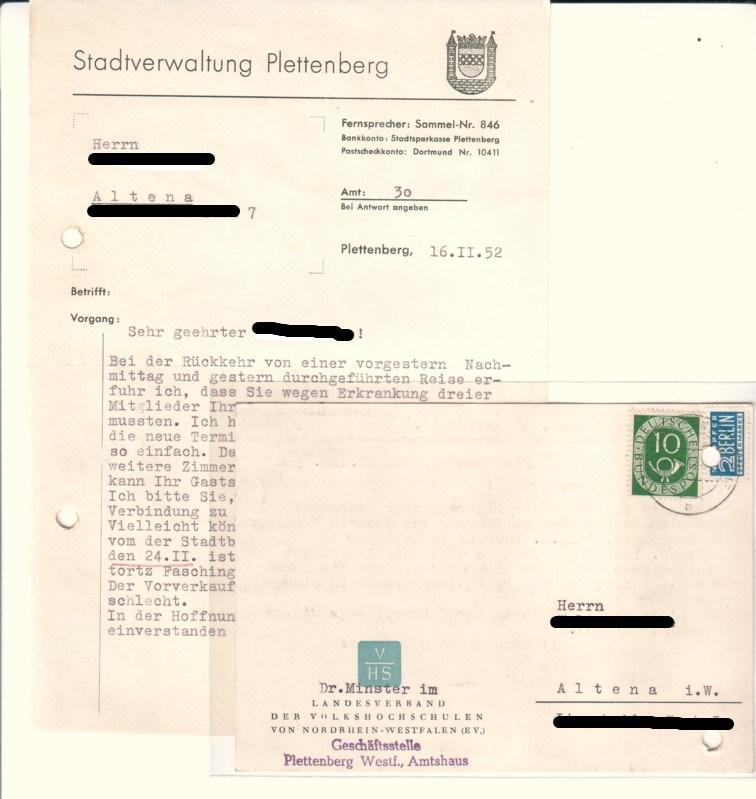 Offizielle Schreiben Der Von Stadtverwaltung Zvab